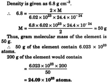 5 element of density 6.8 gm per cc