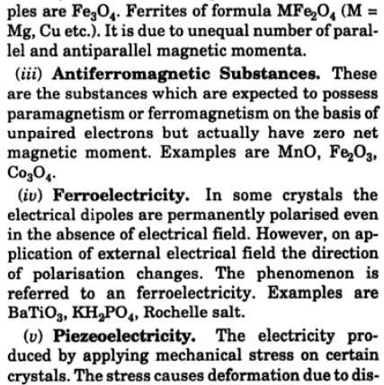 5 Explain Ferromagnetism, ferrimagnetism