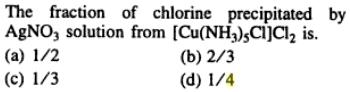 5 Fraction of Chlorine precipitated by AgNO3