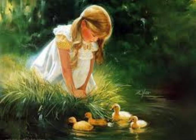 5 girl with ducks