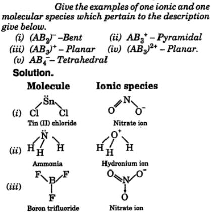 5 give examples of one ionic one molecular