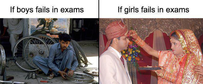 5 If girls fail in exams
