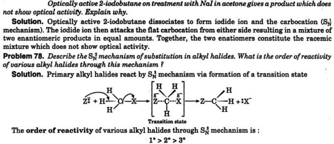 5 optically active 2-iodobutane treated with NaI 1