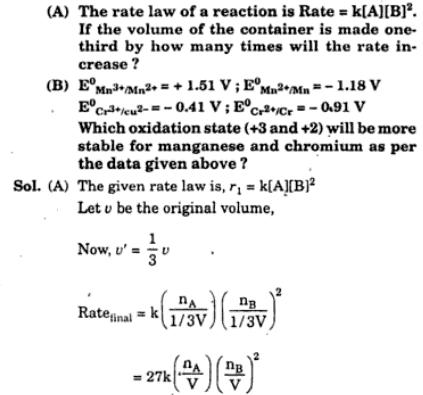 5 Rate law question and electrochemistry
