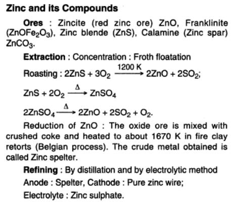 51a Zinc and its compounds