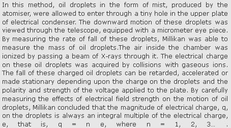 51b Millikan's Oil drop method