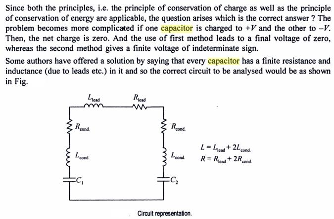 51c4 Capacitors connected final charge