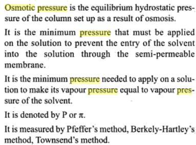 51e osmotic pressure