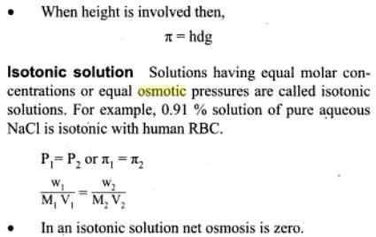 51h osmotic pressure