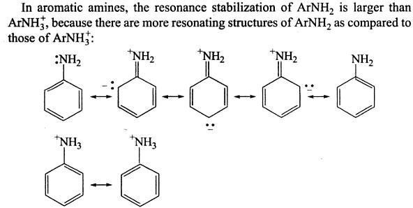 52a Aromatic Amines resonance stabilization