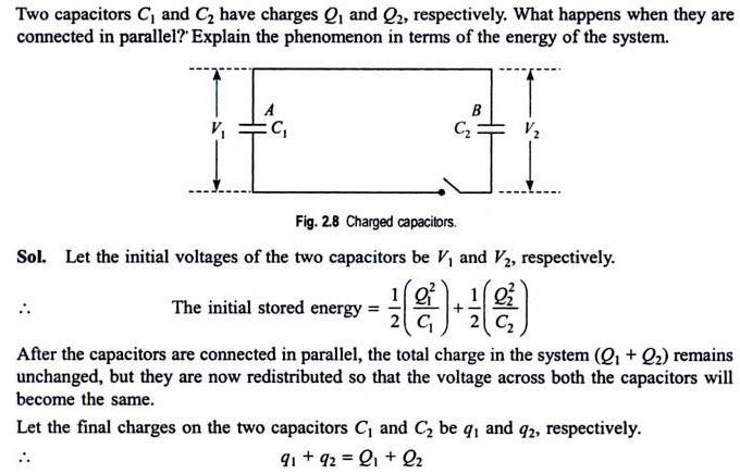 52a Two capacitors connected in parallel