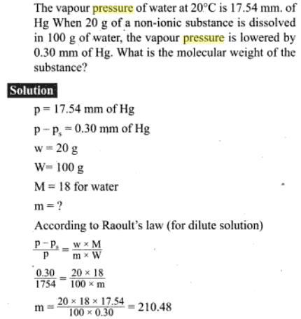 52b Vapour pressure problem
