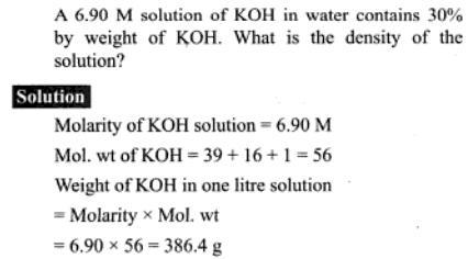 53b Density of KOH solution
