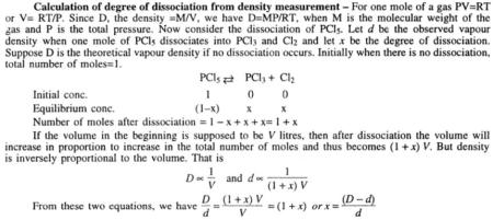 6 Calculation of degree of dissociation