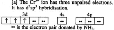 6 Cr(NH3)5 3+ ion is Paramagnetic as has 3 unpaired electrons