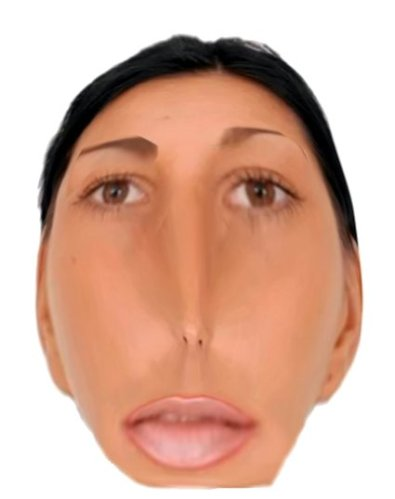 6 distorted female face