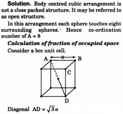 6 element A crystallizes adopting bcc