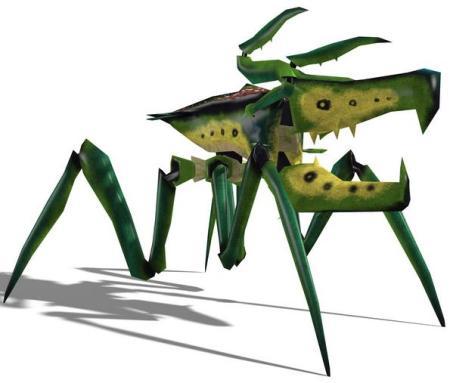 6 Green Robot Archnid