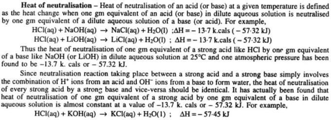 6 Heat of Neutralization