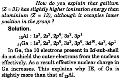 6 How do you explain that Gallium z=31 has