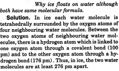 6 ice floats on water