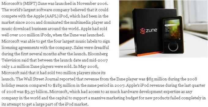 6 Microsoft Zune failed