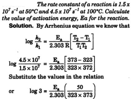 6 The rate constant of a reaction is 1.5 10^7 per second