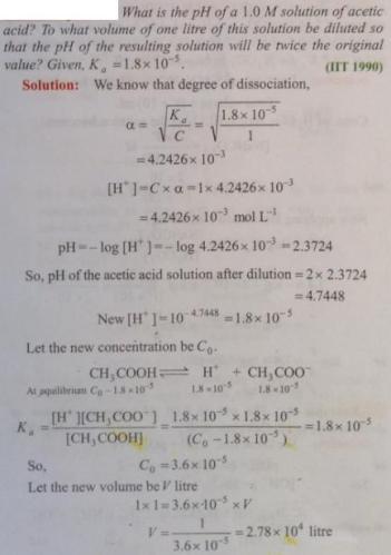61 Ionic equilibrium dissociation constant