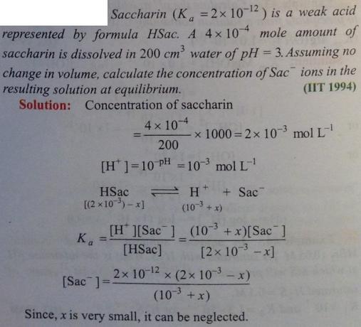 64 Ionic equilibrium dissociation constant