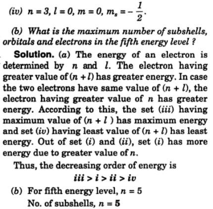 7 Arrange the electrons represented by the