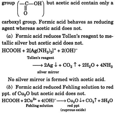7 chemically distinguish between Formic acid and aldehyde 2