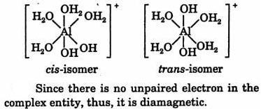 7 cis and trans isomer of Al(H2O)4(OH)2