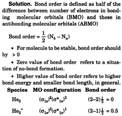 7 Define bond order bond energy bond length