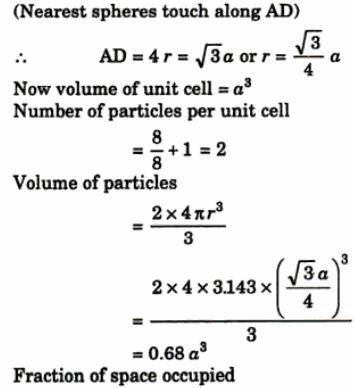 7 element A crystallizes adopting bcc