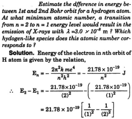 7 Estimate the difference in Energy between