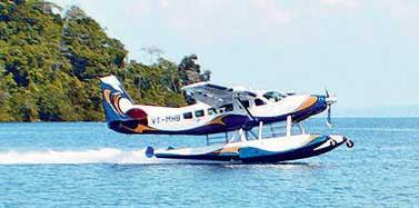 7 Plane landing on water