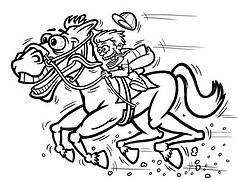 7 Racehorse man cartoon