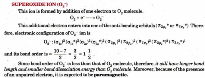7 Superoxide Ion O2 minus