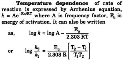 7 Temeperature dependence of chemical reaction arrhenius