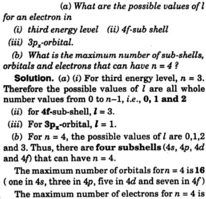 7 what are the possible values of l for an electron