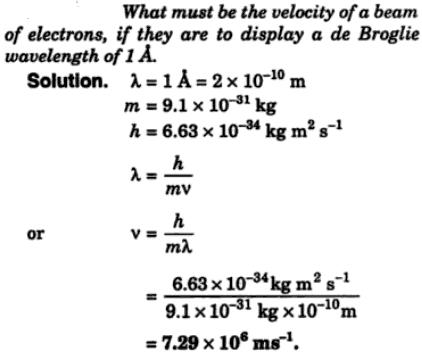 7 what must be the velocity of a beam of electrons