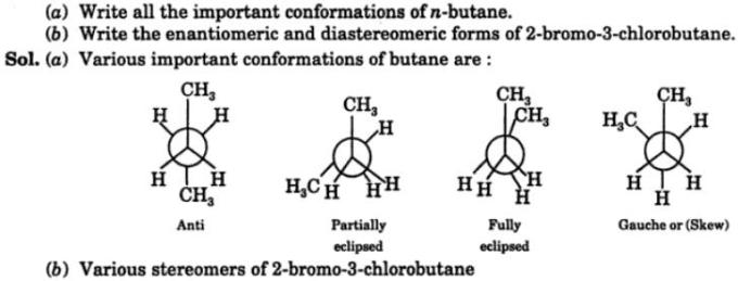 7 write all important conformations of n-Butane