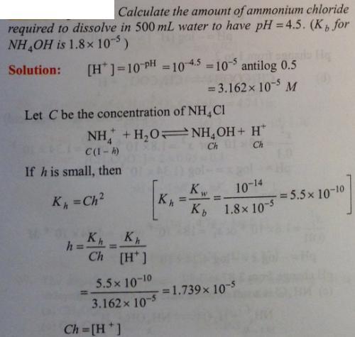 73 Ionic equilibrium dissociation constant