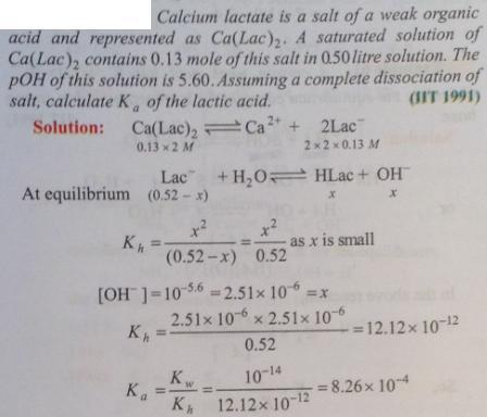 75 Ionic equilibrium dissociation constant