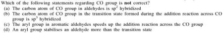 7a which statement about CO group is not correct