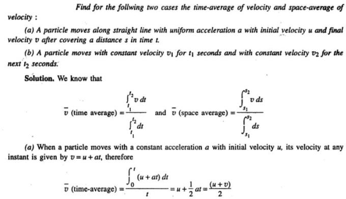 7b Time and Space average velocities