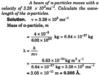 8 A beam of Alpha particles moves with a velocity
