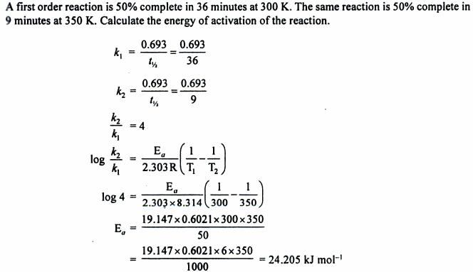 8 calculate energy of activation