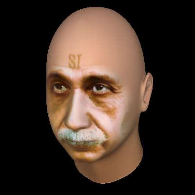FaceGen 3D model of Albert Einstein