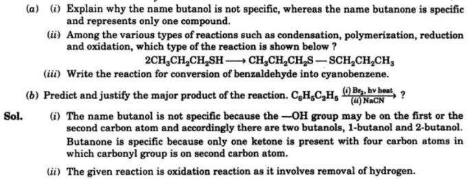 8 explain why butanol is not specific but butanone is